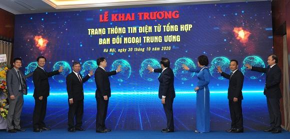 Khai trương Trang thông tin điện tử Ban Đối ngoại Trung ương Đảng